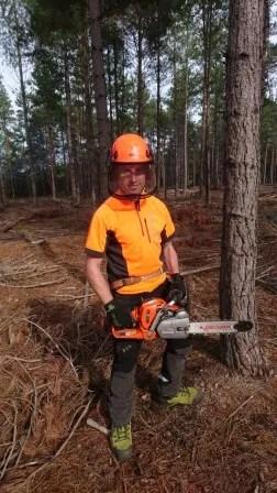 Cpl Roberts Gains Tree Felling Award