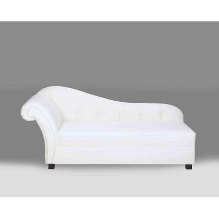 plaza white leather chaise rentals