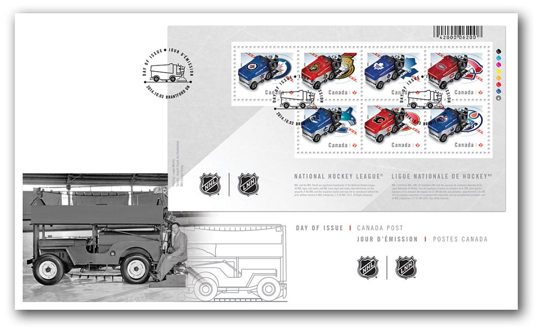 Zamboni machines in Canadian NHL teams colours