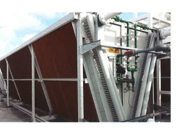 The adiabatic fluid cooler saved Leduc $20K in water costs in 2019