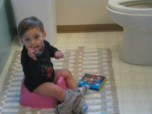 baby pee in potty