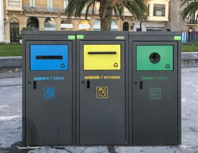recycling bins in Basque Country