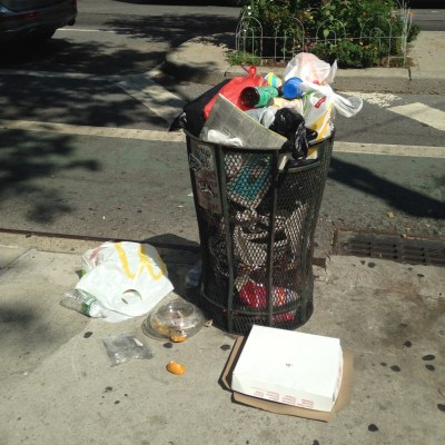 garbage in New York