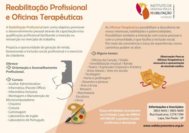 Reabilitação Profissional e Oficinas Terapêuticas