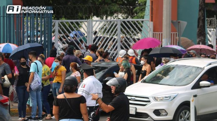 VACCINATION DAY AGAINST COVID-19 AT THE MAZATLÁN SPORTS CENTER 08/14/2021