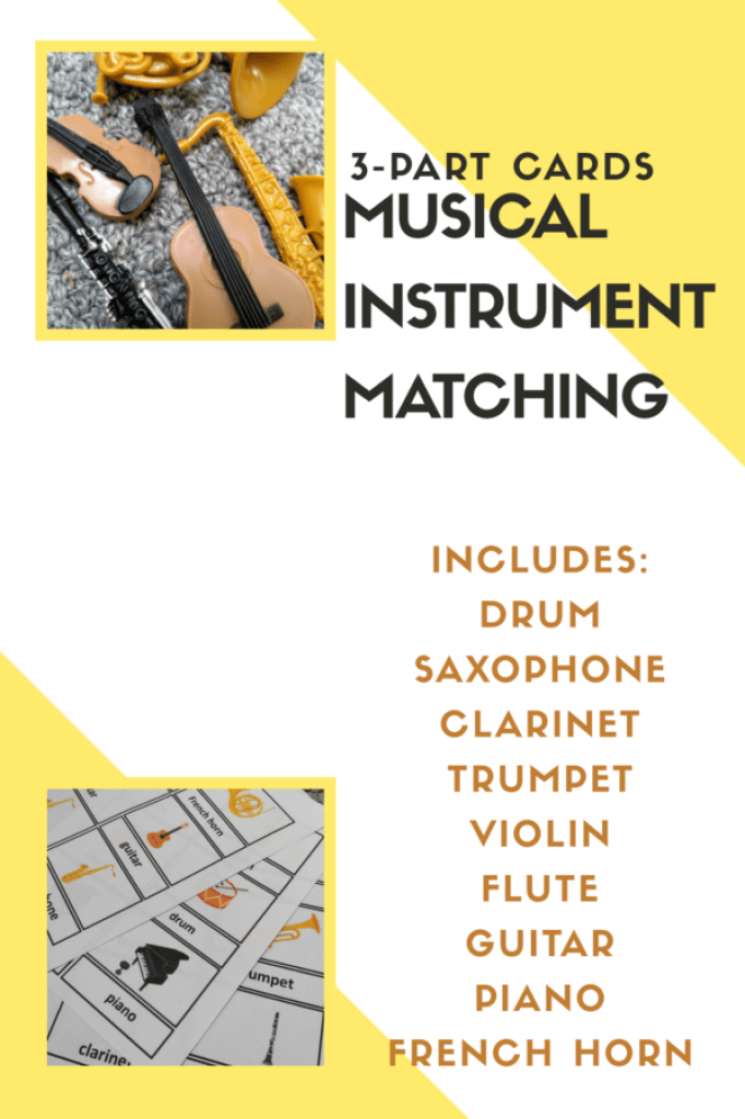 Musical instrument matching activity