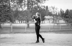 softball, pitcher, female athlete
