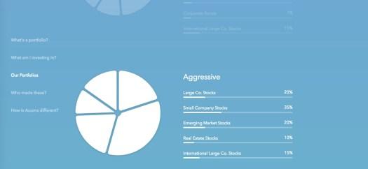 Acorns portfolio detail
