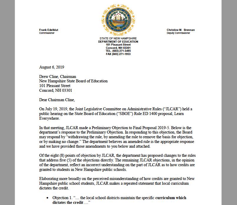 State Board of Education: Legislative Committee on