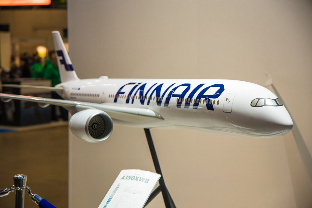 A350 model at MATKA Travel Fair