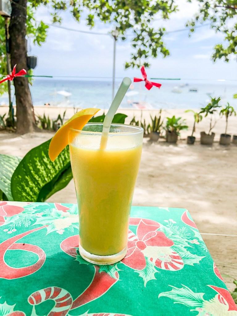 mango shake, Alona Beach, Philippines