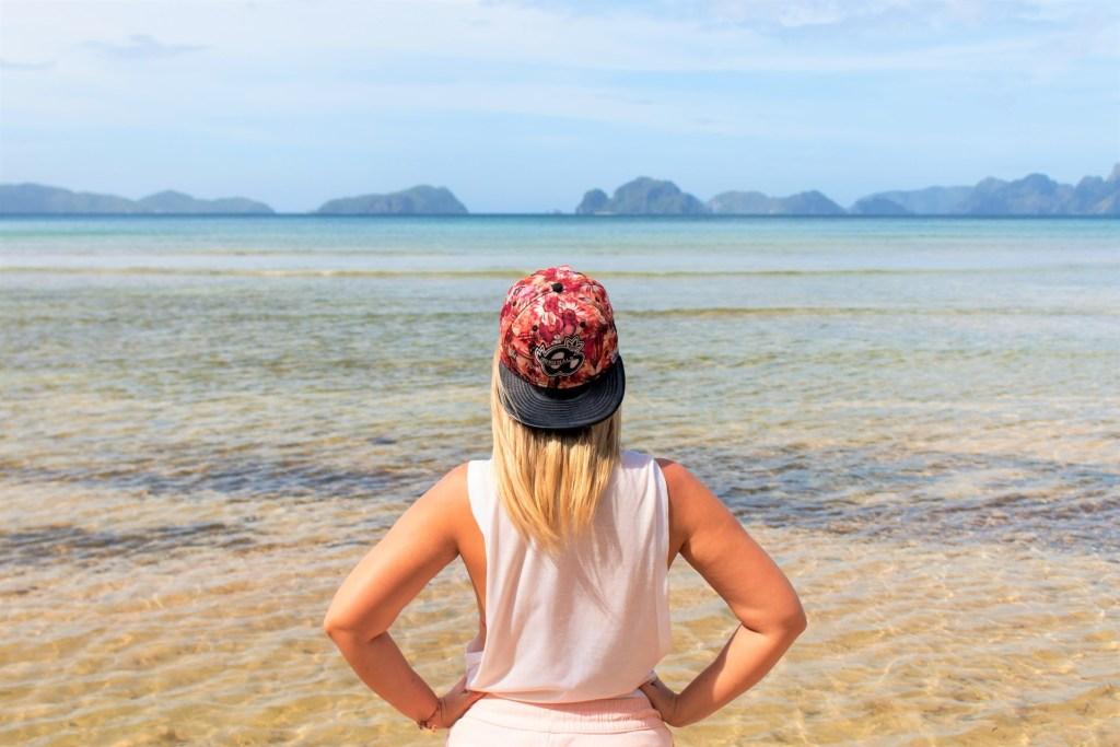Beautiful scenery at Marimegmeg beach, El Nido, Philippines