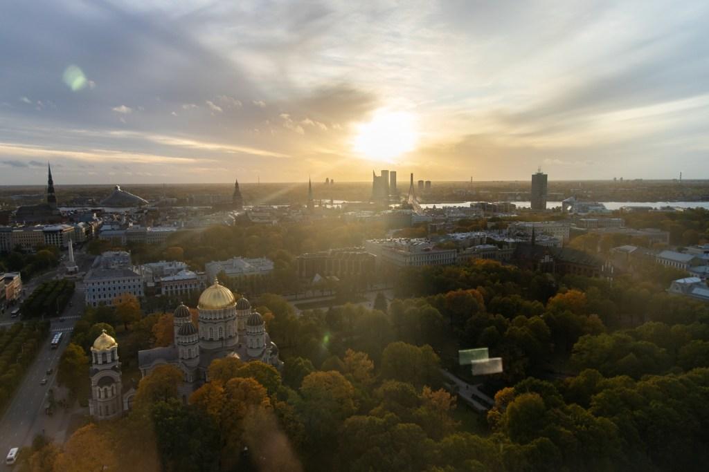 View from Radisson Blu Skyline Bar in Riga