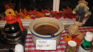 Hot apple cider will bring a smile to any face