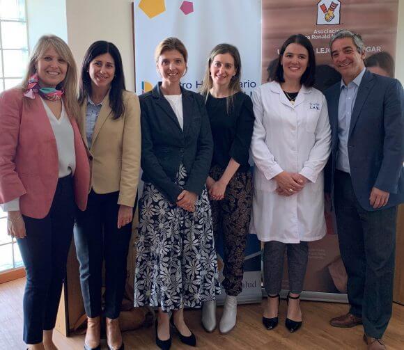 Inauguración de las obras de sala familiar educativa en el Hospital Pereira Rossell co-financiado por ReachingU