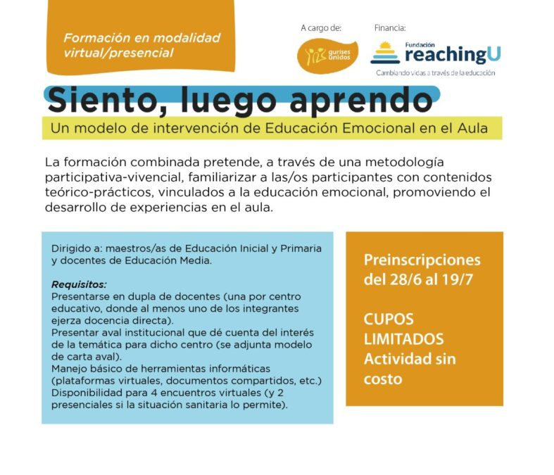 Preinscripciones abiertas: nueva edición de formación docente en educación emocional
