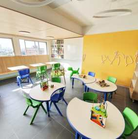 The first family school room at Uruguay's lergest Children's Hospital is now a reality!