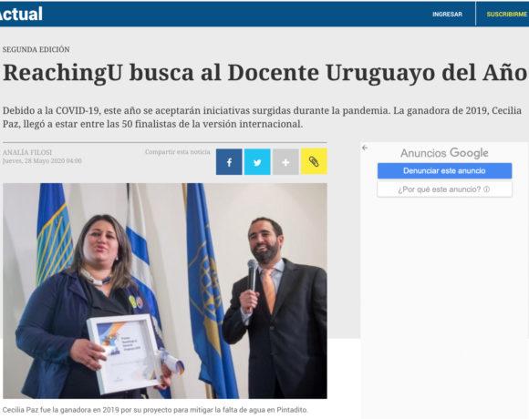 El País: ReachingU busca al docente uruguayo del año