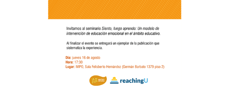 Invitación: Seminario «Siento, Luego Aprendo» – Montevideo, jueves 16 de agosto