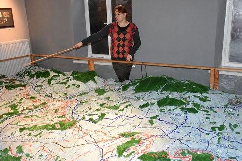 Muzeum of Gorlice, WW1 Battle of Gorlice // Muzeul din Gorlice, macheta bătăliei de la Gorlice, Primul război mondial