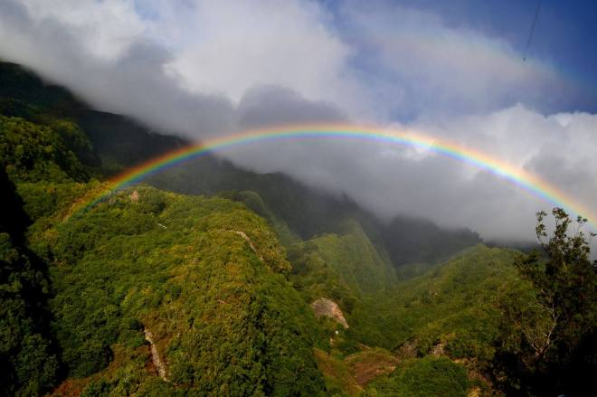 Rainbow in La Palma, Canarian Islands