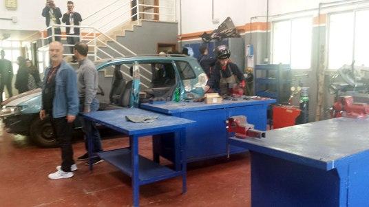 Mechanical workshop room in I.E.S. Magallanes San Isidro, Tenerife