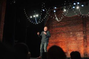 Comedian Jaron Myers Live on Stage.
