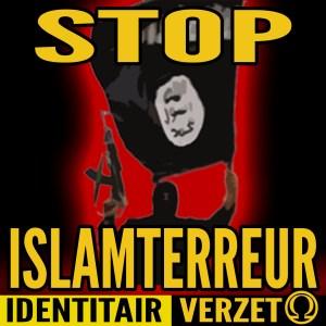 De betreffende 'anti islam' sticker..