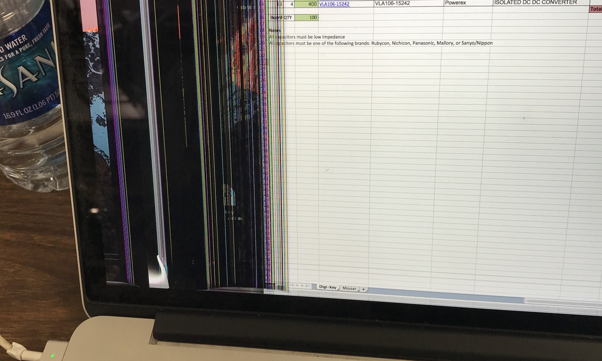 Broken MacBook Pro LCD