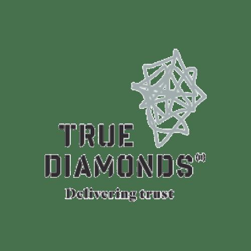 transparent true diamonds bw