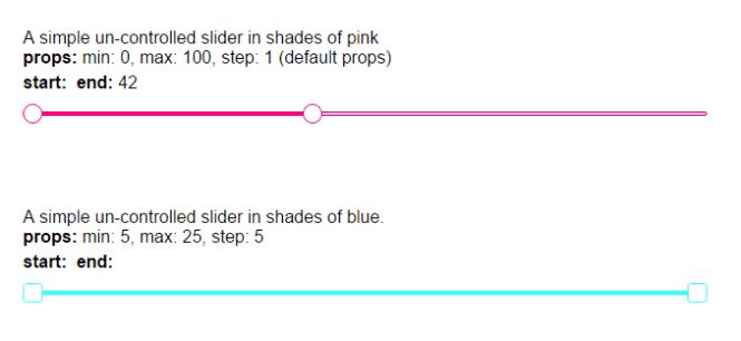 Slick React Range Slider Component