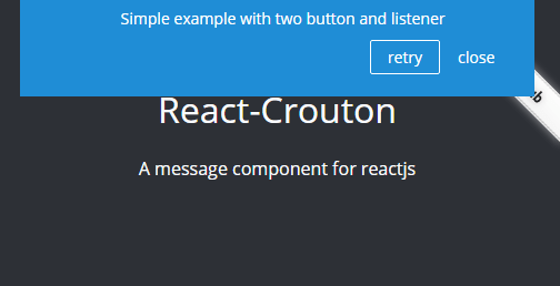 A Message Component For Reactjs - React-Crouton