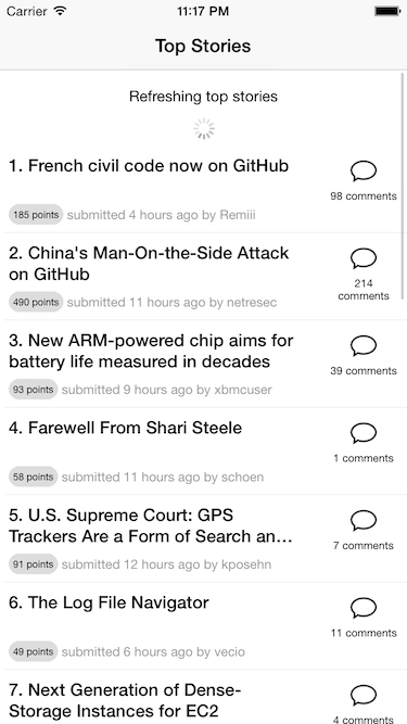 React Native RefreshableListView