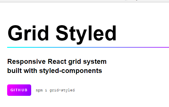 React Grid System