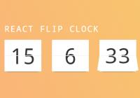 React Flip Clock