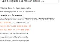 Deep Regex Match Component For React