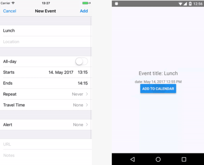 Add Events To Native Calendar In React Native