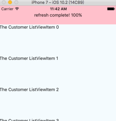 Custom Header Refresh Components For React Native