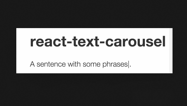 React Text Carousel Component