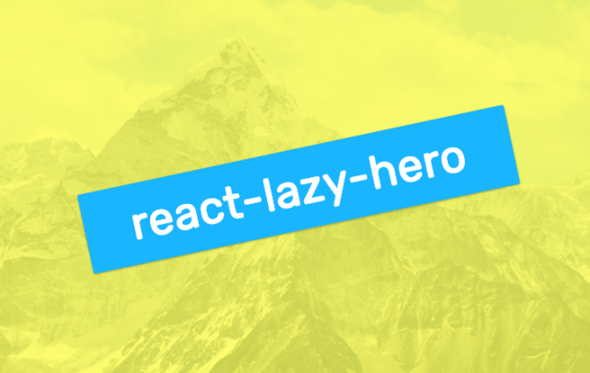 react-lazy-hero