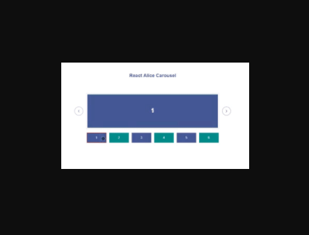 React Alice Carousel Component