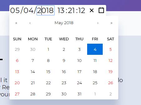 Datetime Picker For React App