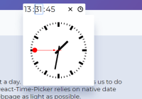 Multi Language Clock-style Time Picker For React