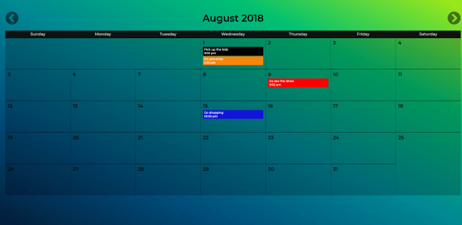 Fully Functional Calendar With Reminders - react-calendar-min