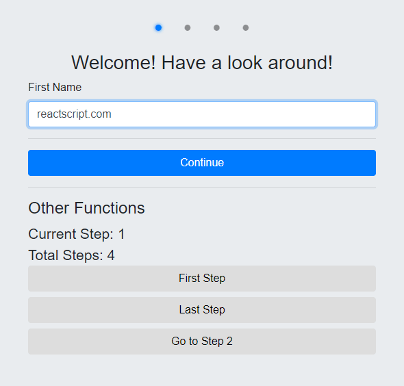 Wizard Form Component For React - react-step-wizard