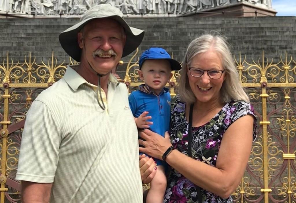 Darlene, her husband, and grandson