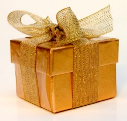gold wrapping box