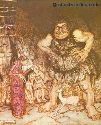 The giant Galligantua and the wicked old magician transform the duke's daughter into a white hind
