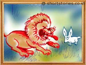 cunning-hare-witless-lion-panchatantra-tales-shortstoriescoin-image3