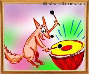 jackal-drum-panchatantra-tales-shortstoriescoin-image